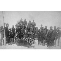 ブラックBuffalo Soldiers of the 25th歩兵写真 12 x 18 Art Print LANT-5890-12x18