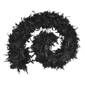 Feather Boa 80g. Black Budget. (Costume Accessories) Female One Size - Black