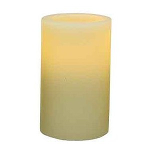 Pacific Accents Flameless Candle White(3×5 【7.6×H 12.7(cm)】)
