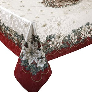 Benson Mills Christmas Noel Printed Tablecloth, size 60-inch-by-84-inch by Benson Mills [並行輸入品]