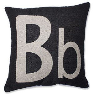 Pillow Perfect Initial 'B' Throw Pillow, 18-Inch by Pillow Perfect [並行輸入品]