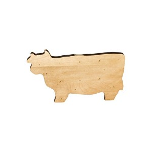 J.K. Adams Cow Novelty Serving Board, Mini, Maple by J.K. Adams
