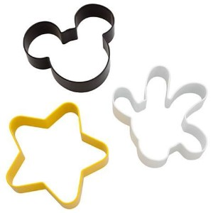 Disney Parks Exclusive Mickey Mouse Body Parts 3 Pc. Cookie Cutter Set by Disney