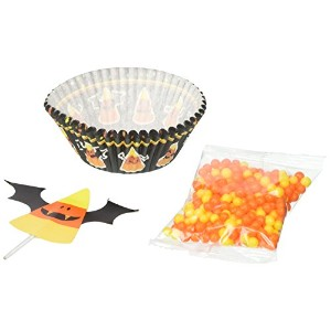 Wilton 415-3174 Candy Corn Cupcake Decorating Kit, Assorted by Wilton