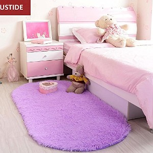 Ustide High Pile Wedding Room Rug Velvet Living Room/Sofa Carpet Soft and Fuzzy Floor Rugs Purple...