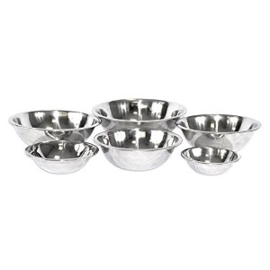 2dayShip Stainless Steel Mixing Bowl Set of 6 - Mirror Finish - 3/4, 1 1/2, 3, 4, 5, and 8 Qt. by...