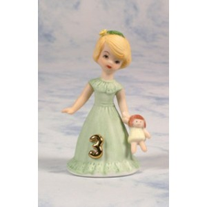 Growing up Girls from Enesco Blonde Age 3 Figurine 3.25 IN by Enesco [並行輸入品]