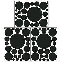 Wall Dots-(21) Black Polka Dot Wall Sticker Appliques by Create-A-Mural