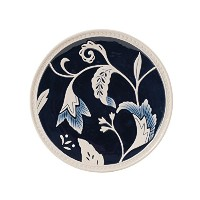 Bristol Collection, Indigo Floral Salad Plate, Royal Blue/White by Fitz and Floyd
