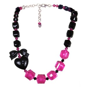 TARINA TARANTINO LUCITE AND CRYSTAL PUFF HEART NECKLACE [正規輸入品]