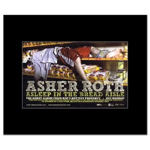 ASHER ROTH - Asleep in the Bread Aisle Matted Mini Poster - 21x13.5cm