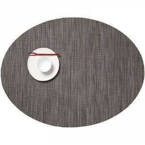 Chilewich Oval Mini Basketweave Placemat-Light Grey by Chilewich [並行輸入品]