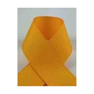 Schiff Ribbons 744-9 Polyester Grosgrain 1-1/2-Inch Fabric Ribbons, 20-Yard, Yellow Gold by Schiff Ribbons