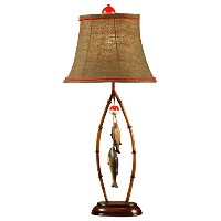 Crestview Collection Table Lamp with Bell Shade, 22, Brown by Crestview Collection