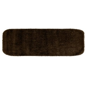 Garland Rug DEC-2260-14 Traditional 22 in. x 60 in. Plush Washable Nylon Rug Chocolate