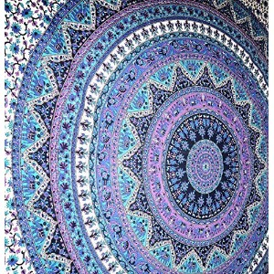 Large Indian Mandala Tapestry Hippie Hippy Wall Hanging Throw Bedspread Dorm Tapestry Decorative...