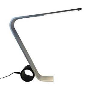 Wolverine WLED02 Aluminum Modern Style LED Table Lamp, Silver by Wolverine