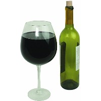 Oversized Extra Large Giantワインガラス–750ml–Holds aフルボトルのワイン。 2 Glasses クリア 2100