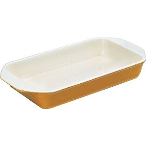 Chasseur 1 Quart Enamel Cast-Iron Rectangular Dish, Green [並行輸入品]