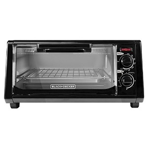 BLACK+DECKER TO1200B 4 Slice Toaster Oven, Black by BLACK+DECKER
