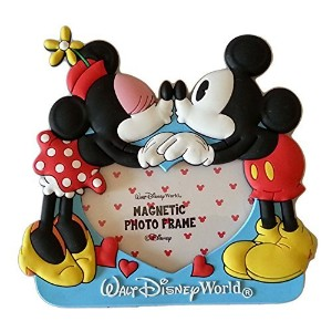 Disney Parks Soft Touch Magnetic Picture Frame - Mickey & Minnie Kiss by Disney Parks