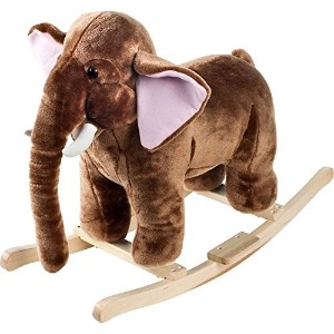 Happy Trails Plush Rocking Mo Mammoth With Sounds - Brown [並行輸入品]