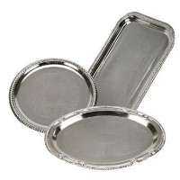 Nickel-Plated Metal Serving Trays by Generic