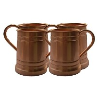 STREET CRAFT Set of-4, Handmade Solid Copper Moscow Mule Mug, Large Tankard 18 Oz Capacity. by...