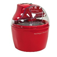Nostalgia ICM150RETRORED 1.5-Quart Retro Series Electric Ice Cream Maker with Ingredient Chute by...