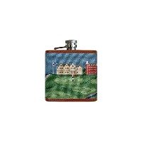 Smathers & Branson Old Course Scene Needlepoint Flask - Multi (Flask-92) by Smathers & Branson