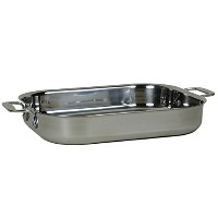 All-Clad 00830 Stainless-Steel Lasagna Pan with 2 Oven Mitts/ Cookware, Silver by All-Clad