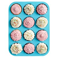 12 Cup, Non Stick, Premium Silicone Muffin Mold & Cupcake Pan/Silicone Baking Molds/Baking Cups by...