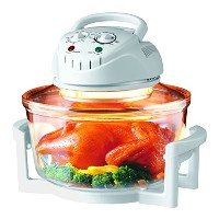Hometech 12 Quart Halogen Tabletop Countertop Convection Oven with Extender Ring(White) by HomeTech