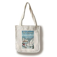 Vermont – レトロSki Resort Canvas Tote Bag LANT-47352-TT