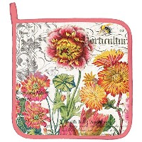 Michel Design Works Blooms and Bees Cotton Potholder, Multicolor [並行輸入品]
