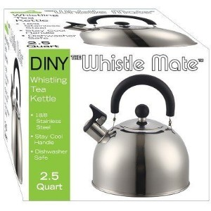 Stainless Steel Whistling Kettle 2.5qt/2.37l Hot Water Tea Stovetop by DINY Home & Style