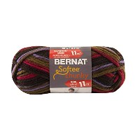 Spinrite Softee Chunky Ombre Yarn, Mulberry Purple by Spinrite