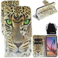 S6 Edge Plus Case, DRUnKQUEEnテつョ PU Leather Credit Card Holder Case Stand Feature Wallet Type Flip...