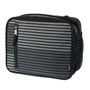 PackIt Freezable Classic Lunch Box, Gray Stripe by PackIt