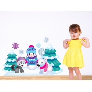 Sunny Decals Frozen InspiredファブリックDecals with Snowman