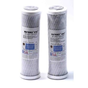 Matrikx Brand Compatible Carbon Pre and Post RO Filter to replace GE FX12P (2pack) by WFE Filters ...