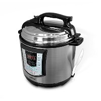 NutriChef PKPRC22 - Digital Stainless Steel Electric Pressure Cooker and Steamer - Delay Start and...