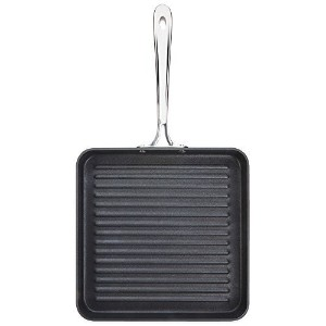 B1 Hard Anodized Nonstick 11 Inch Flat Square Grille Pan with Double-Riveted Handle (Imported) by...
