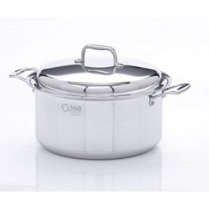 360 Cookware Stainless Steel Stockpot with Cover, 8-Quart by Americraft Cookware [並行輸入品]