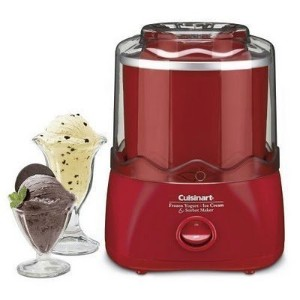 Cuisinart Frozen Dessert Maker (RED) - Frozen Yogurt, Ice-Cream & Sourbet [並行輸入品]