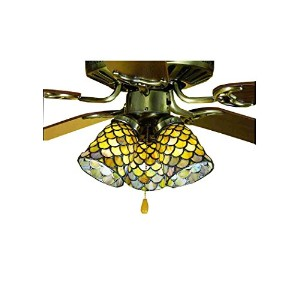 Meyda Tiffany 27470 Fishscale Ceiling Fan Light Shade, 4 Width by Meyda Tiffany