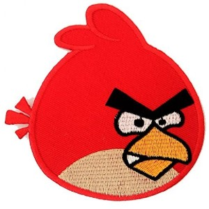 The Red Angry Bird Red Birds Game Figure Patch ''8,0 x 7,5 cm'' - Embroidered Iron On Patches Sew...