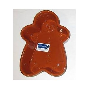 "Chantal Gingerbread Man Stoneware Baking Dish 5 1 / 2 "" x 8 """