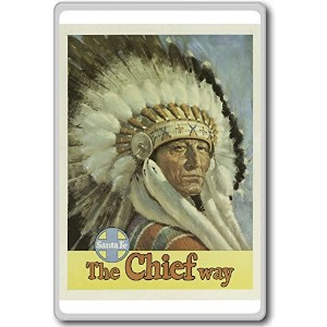 The Chief Way - Santa Fe USA - Vintage Travel Fridge Magnet - ?????????