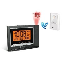 Ambient Weather WS-8365 ClearView Projection Clock with Indoor and Outdoor Temperature by Ambient...